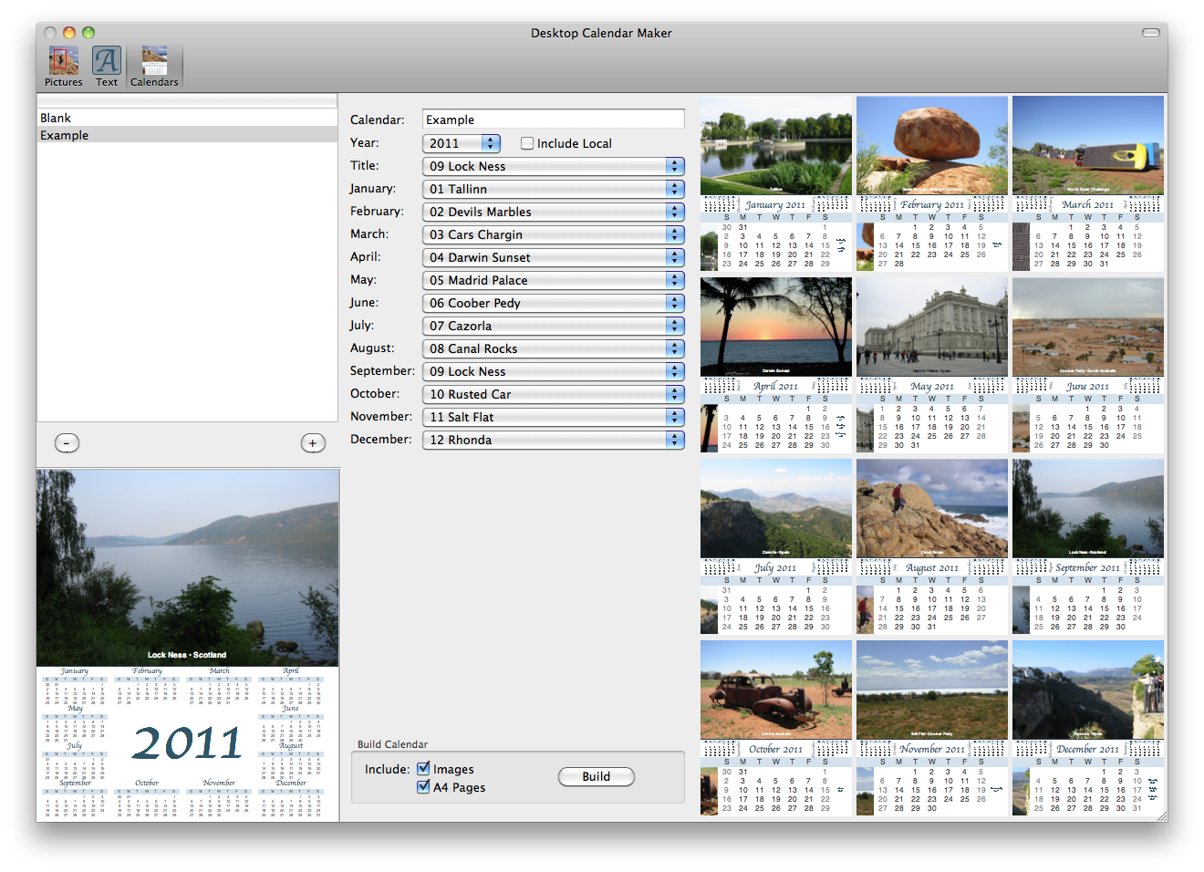 Stairways Software: Desktop Calendar Maker